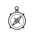 compass - line design single isolated icon vector image vector image