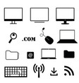 computer icon technology set in black color vector image vector image