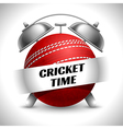 Cricket time concept vector image vector image