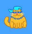 cut rapper cat vector image vector image