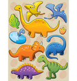 Dinosaurs Collection vector image