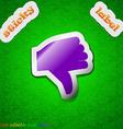 Dislike Thumb down icon sign Symbol chic colored vector image vector image