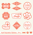 Dog Name Tag Labels vector image vector image