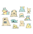 dogs variation doodle pastel on white vector image vector image
