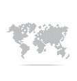 Dot world map isolated on the white background vector image vector image