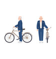 elderly man or grandfather dressed in sport vector image vector image
