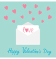 Envelope with hearts Happy Valentines day card vector image