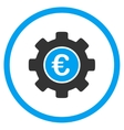 Euro Development Rounded Icon vector image vector image