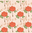 floral seamless pattern retro style roses vector image vector image