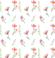 Flowers and leaves pattern vector image vector image