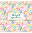 fruit and vegetables pattern vector image vector image