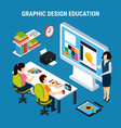 graphic design education vector image vector image
