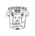 grooming logo set scottish terrier icon vector image