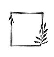 hand drawn frame doodle black and white vector image