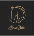 horse logo silhouette horse on black vector image