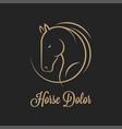 horse logo silhouette on black vector image