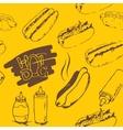 Hotdog Seamless Pattern vector image vector image