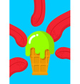 Ice-cream with acid Drug food Tongue licking ice vector image vector image