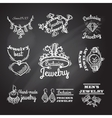 Jewelry Chalkboard Emblems vector image vector image