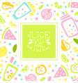 juice natural banner template original design vector image vector image