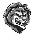 Lion mascot monochrome team label design vector image