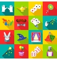 Magic icons set in flat style vector image vector image