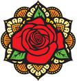 mandala rose color vector image