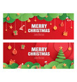 merry christmas and happy new year red greeting vector image vector image