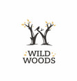 modern professional sign logo wild woods vector image vector image