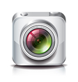 object camera apps icon white vector image vector image