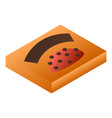 orange chocolate box icon isometric style vector image vector image
