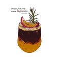passion fruit soda with espresso hand draw sketch vector image vector image