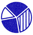 pie chart icon grunge watermark vector image vector image