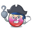 pirate jelly ring candy character cartoon vector image