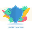 protect from virus concept with face mask vector image