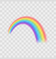 realistic detailed 3d rainbow on a transparent vector image