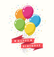 retro happy birthday poster vector image vector image