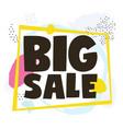 sale big sale vector image