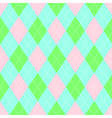Seamless argyle pattern Diamond shapes background vector image vector image