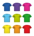 Set of colorful male t-shirts wear printing vector image vector image