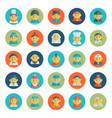 set of cute character avatar icons in flat design vector image