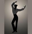 silhouette of spanish flamenco dancer man vector image