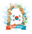 south korea map design korean traditional symbols