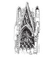 tracery of rouen cathedral countless different vector image vector image