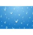 Water drops background Fresh aqua or healthy vector image