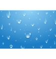 Water drops background Fresh aqua or healthy vector image vector image