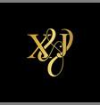 xj x j logo initial mark vector image