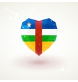 Flag of Central African Republic in shape diamond vector image
