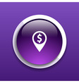 Map pointer with dollar sign icon money vector image