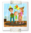 A family picture vector image vector image